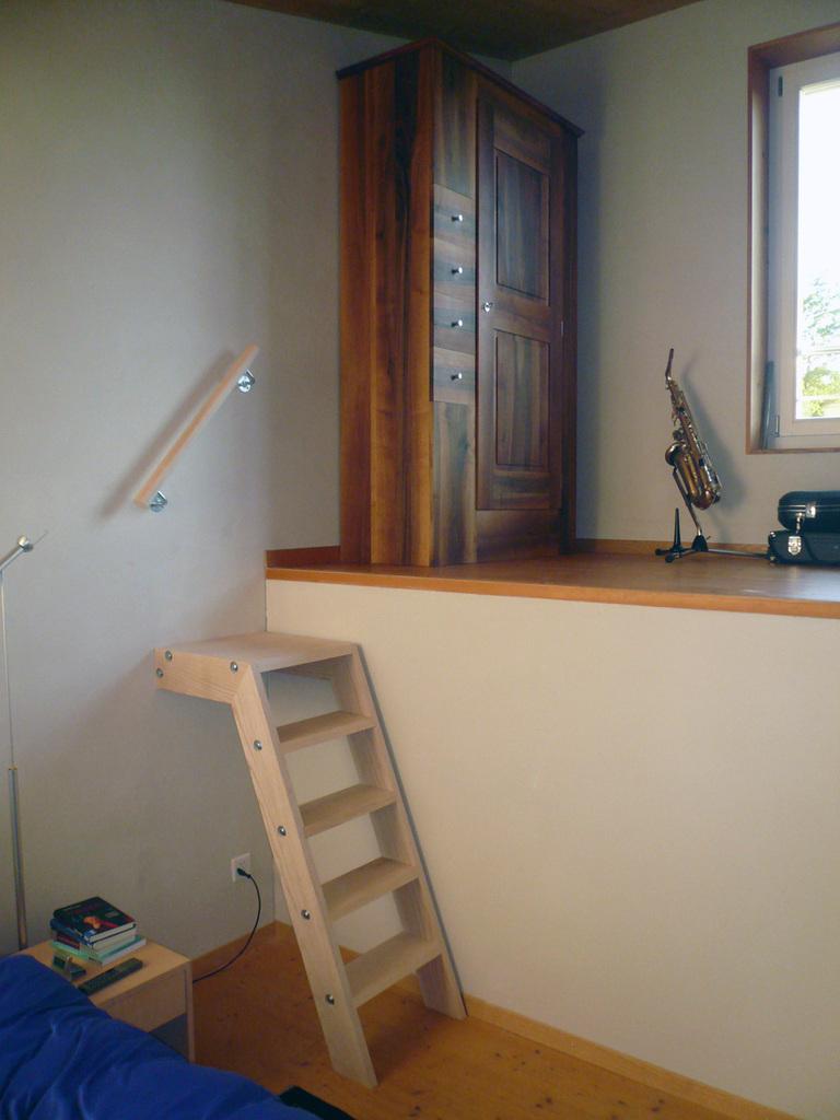 Treppe aus Eschenholz