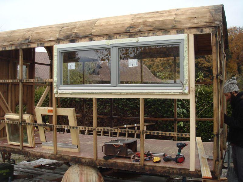 Bauwagen Vorbereitung zum neu Aufbau
